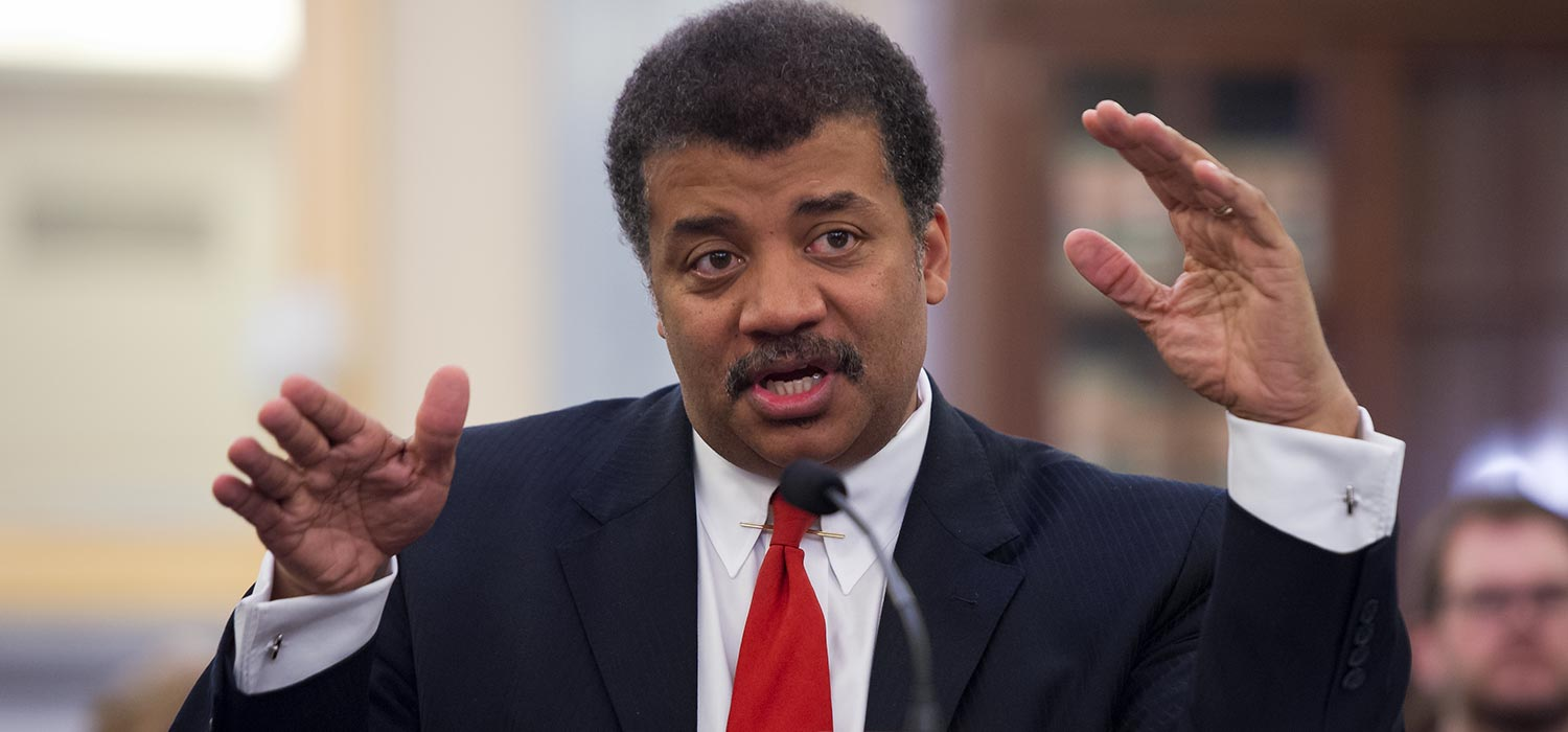 Neil deGrasse Tyson testifying before the US Senate Committee on Commerce, Science, and Transportation.